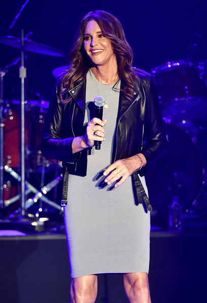 Leather Jacket「Caitlyn Jenner Attends Culture Club Performance At The Greek Theatre」:写真・画像(14)[壁紙.com]