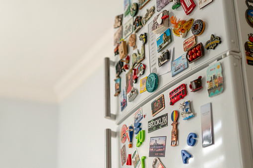 Antalya Province「Lots of various souvenir magnets on the fridge in the kitchen」:スマホ壁紙(19)