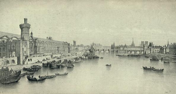 Water's Edge「'Paris in 1658', 1915. Artist: PH Benoist.」:写真・画像(0)[壁紙.com]