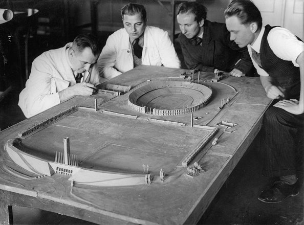 Stadium「The model of the Olympic arena for the Olympic Games 1936 in Berlin. Concept of the architect Werner march. Photograph. Around 1935.」:写真・画像(9)[壁紙.com]