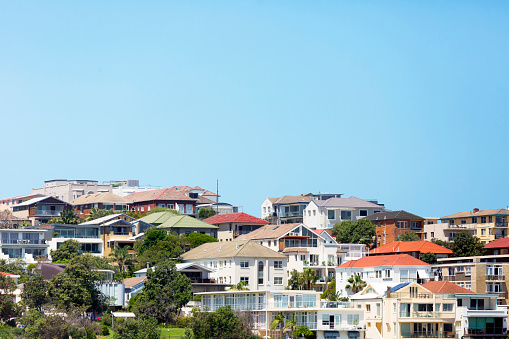 New South Wales「Beautiful coastal town Bondi, suburb of Sydney Australia, copy space」:スマホ壁紙(5)