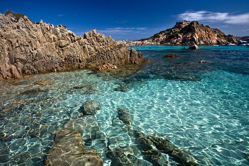 Coastline「Beautiful clear beach La Maddalena」:スマホ壁紙(2)