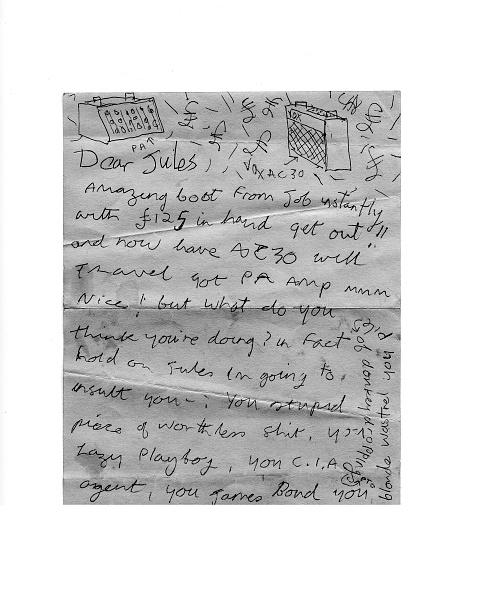 Writing「Letter From Joe Strummer」:写真・画像(4)[壁紙.com]