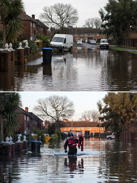 Composite Image「Flood Water Levels Drop Dramatically In Some Areas Around The Thames」:写真・画像(0)[壁紙.com]