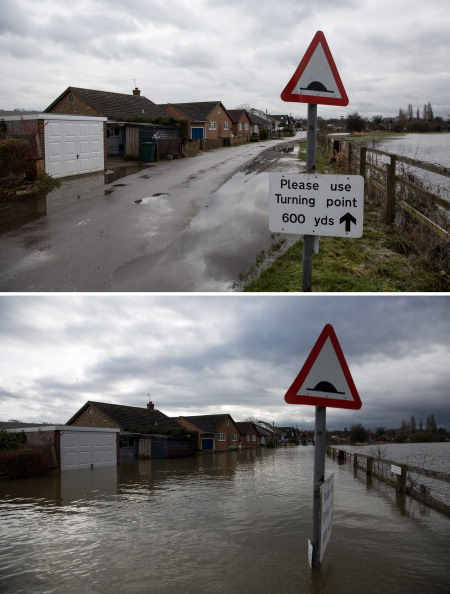 Composite Image「Flood Water Levels Drop Dramatically In Some Areas Around The Thames」:写真・画像(1)[壁紙.com]