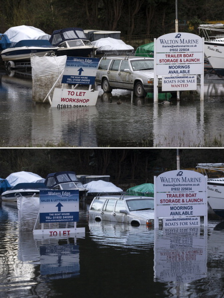 Composite Image「Flood Water Levels Drop Dramatically In Some Areas Around The Thames」:写真・画像(2)[壁紙.com]