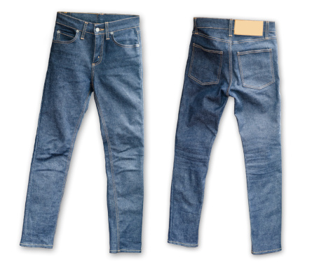 Pocket「Skinny Tight  Blue Jeans  on white background」:スマホ壁紙(7)