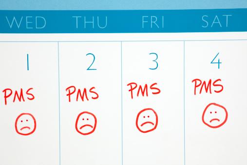 Frowning「Calendar: PMS or Menstruation Cycle」:スマホ壁紙(3)