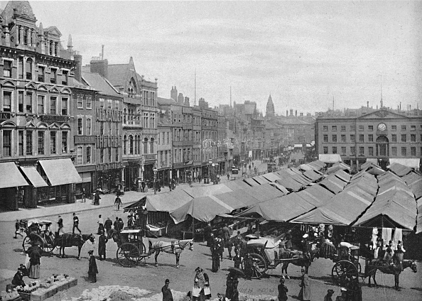 Market Stall「Nottingham: The Market-Place」:写真・画像(1)[壁紙.com]