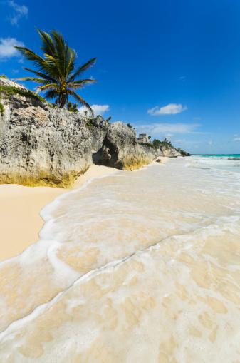 ビーチ「Mexico, Yucatan, Tulum, Ancient Mayan ruins」:スマホ壁紙(7)