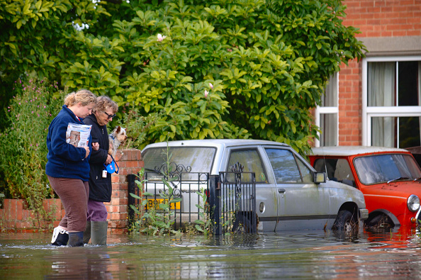 2007「A older lady with her pet dog is helped by a younger neighbor in a residential street under floodwater in Longford, Gloucester, UK, 2007」:写真・画像(8)[壁紙.com]