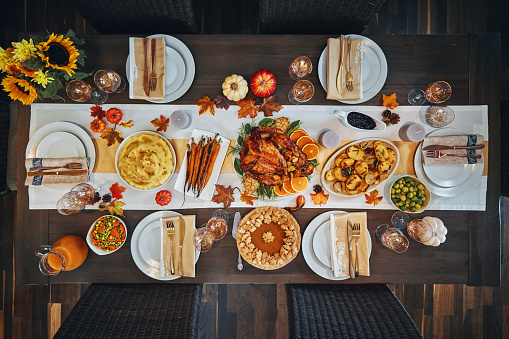 Stuffed Turkey「Family Having Traditional Holiday Stuffed Turkey Dinner」:スマホ壁紙(17)