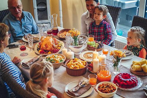 Birds「家族を持つ伝統的な休日詰めトルコ ディナー」:スマホ壁紙(16)