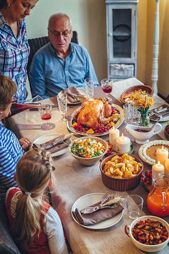 Colorful「家族を持つ伝統的な休日詰めトルコ ディナー」:スマホ壁紙(3)