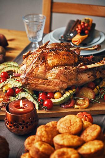 Stuffed Turkey「Family Having Traditional Holiday Stuffed Turkey Dinner」:スマホ壁紙(15)
