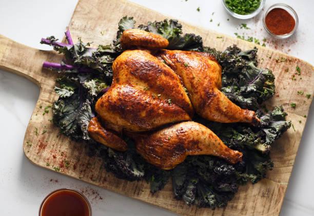 Butterflied roast chicken:スマホ壁紙(壁紙.com)
