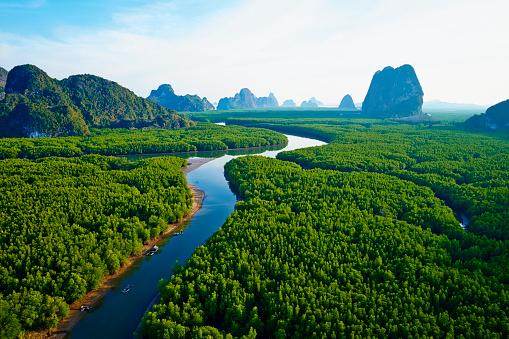 Famous Place「Thailand, Phang Nga Bay, Ao Phang Nga national parc」:スマホ壁紙(8)