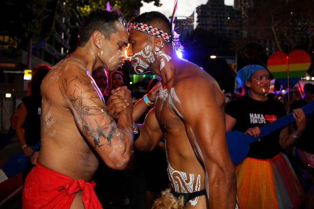 Behind The Scenes On The Haka For Life Mardi Gras Float:ニュース(壁紙.com)