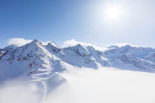 Beauty In Nature「Austria, Kuehtai, mountainscape in winter」:スマホ壁紙(4)