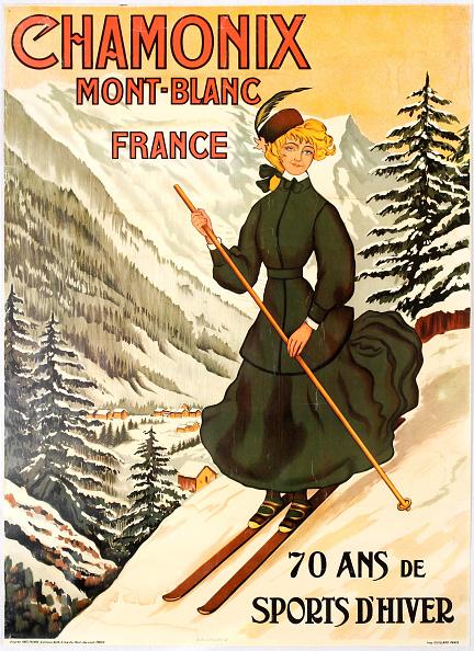 Painted Image「Chamonix Mont Blanc 70 Ans De Sports Dhiver Creator: Faivre」:写真・画像(16)[壁紙.com]