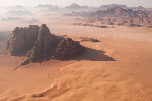 Riverbed「Desert Landscape at Dawn from the air」:スマホ壁紙(5)