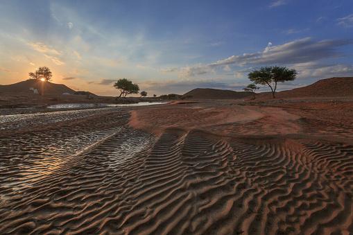 Riverbed「Desert landscape at sunset, Riyadh, Saudi Arabia」:スマホ壁紙(18)