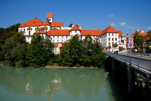 Lech River「Füssen, Lech River, Abbey St. Mang, Allgäu」:スマホ壁紙(16)