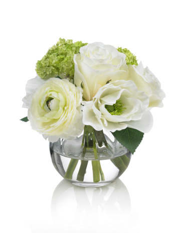 Flower Arrangement「Small white Spring bouquet on a white background」:スマホ壁紙(18)
