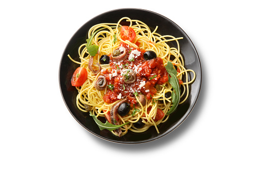 Plate「Italian Ingredients: Spaghetti Puttanesca」:スマホ壁紙(13)