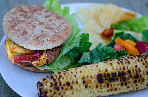 Veggie Burger「Vegan Burger Plate」:スマホ壁紙(6)