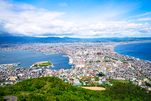 Hokkaido「Hakodate Top view on Hokkaido, Japan」:スマホ壁紙(9)