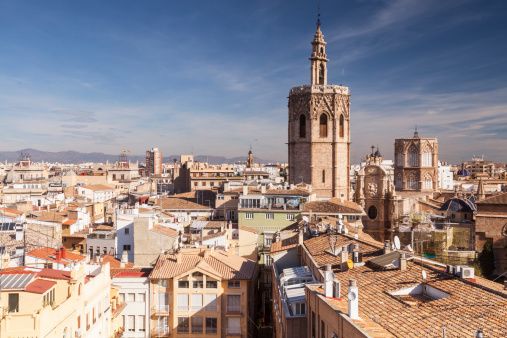 Circa 13th Century「The rooftops of the historic Valencia.」:スマホ壁紙(3)