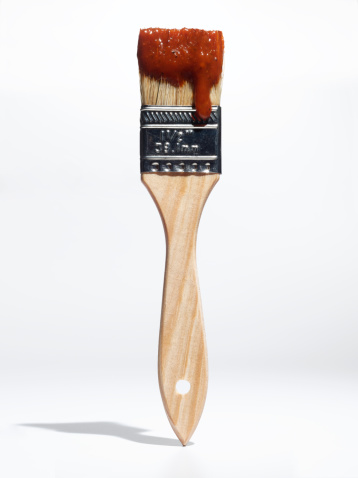 Barbeque Sauce「Paintbrush with BBQ sauce」:スマホ壁紙(15)