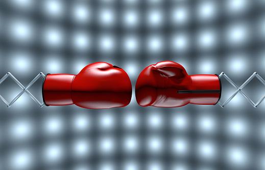 メカ「Two red boxing gloves」:スマホ壁紙(12)