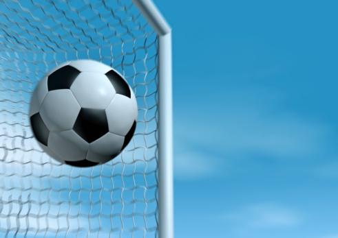 Goal Post「Soccer Ball flying into the goal」:スマホ壁紙(18)