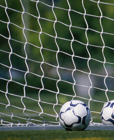 Goal Post「Soccer balls against goal netting」:スマホ壁紙(14)