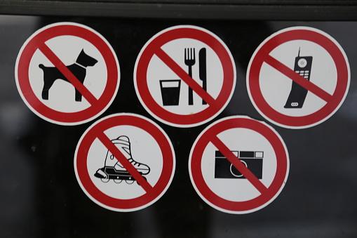 グルノーブル「signs prohibiting」:スマホ壁紙(4)