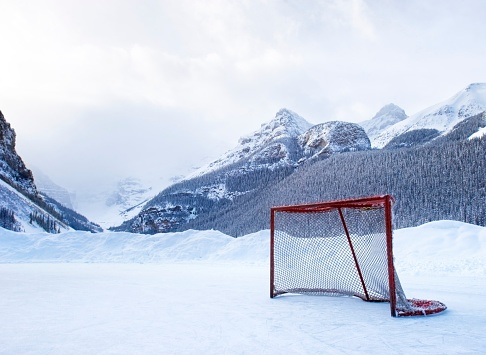 アーカイブ画像「Hockey goal on frozen lake, Lake Louise, Banff, Alberta, Canada」:スマホ壁紙(13)