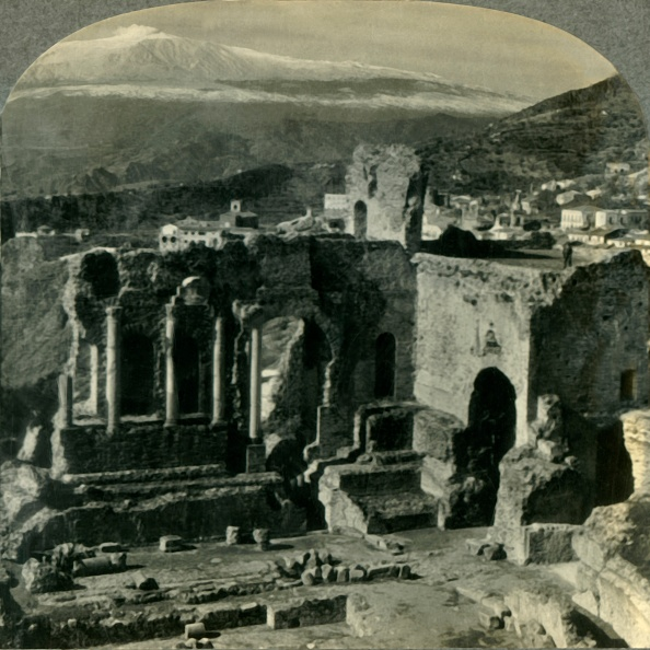 Volcanic Landscape「From The Ruins Of Taorminas Ancient Greek Theater To Snow-Capped Mt Etna」:写真・画像(6)[壁紙.com]