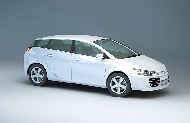 Modern compact car in a studio:スマホ壁紙(壁紙.com)