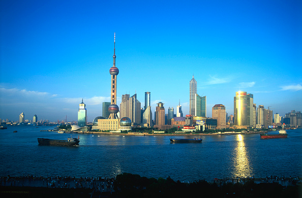 Cityscape「Pudong Business District at dusk, Shanghai, China」:写真・画像(15)[壁紙.com]