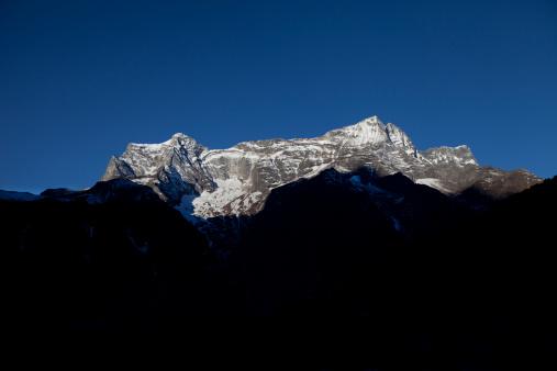 Khumbu「The landscape prone mountainside view from Namche Bazaar, Nepal.」:スマホ壁紙(17)