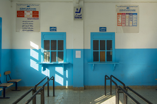 Light Blue「The rail station of Metlaoui」:スマホ壁紙(9)