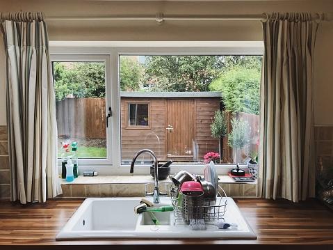 Taken on Mobile Device「View Through an English Kitchen Window」:スマホ壁紙(5)