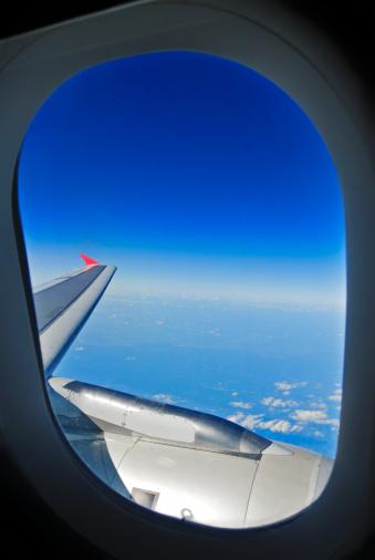 Passenger Cabin「View Through The Airplane Window」:スマホ壁紙(18)