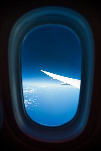 Passenger Cabin「View through airplane window」:スマホ壁紙(10)
