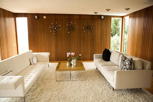 Mid-Century Style「Retro Living Room」:スマホ壁紙(17)