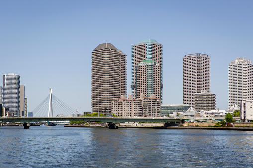 Japan「Chuo-Ohashi Bridge Crossing the Sumida River, Tokyo, Japan」:スマホ壁紙(3)
