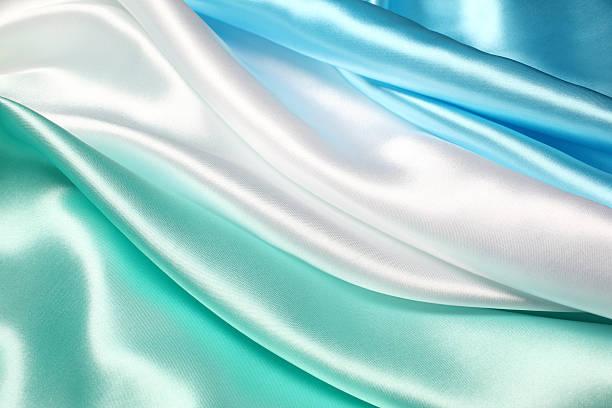 Blue White and Green Silk:スマホ壁紙(壁紙.com)