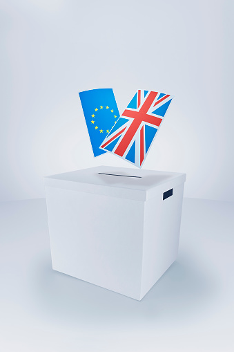 Polling Place「British and European Flags at the Ballot Box」:スマホ壁紙(3)